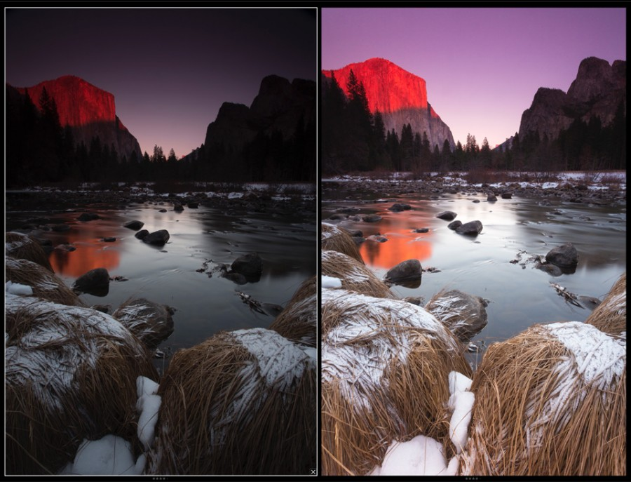 Yosemite Winter Sunset TIFF Image Free Download
